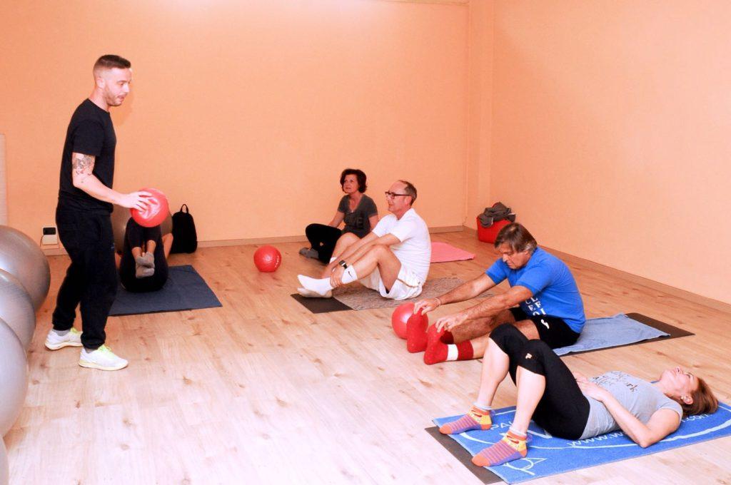 palestra di gruppo pilates